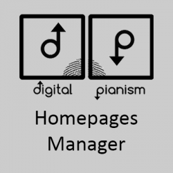 Digital Pianism Homepage Images & Sliders Manager